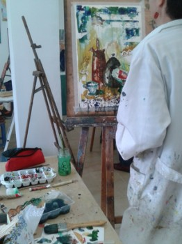 Painting from life. Classes in Barcelona