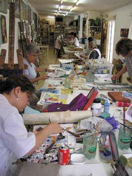Collage and painting course in Barcelona Taller de 4 Pintors