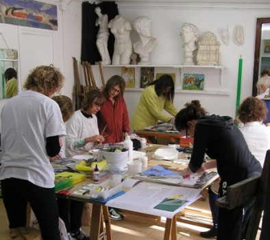 Art courses in Barcelona. Painting, drawing, collage